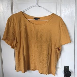american eagle yellow scrunch top
